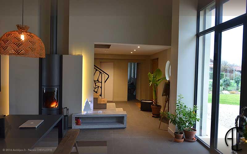 r habilitation d 39 une maison secondaire en bresse. Black Bedroom Furniture Sets. Home Design Ideas