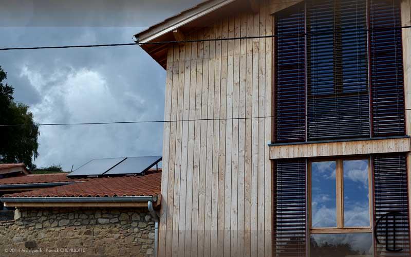 Maison passive dans les monts du lyonnais retour d exp rience for Maison bioclimatique passive
